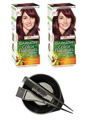 Garnier Garnier 2 Adet Color Naturals Saç Boyası 5 + Saç Boyama Seti Renksiz